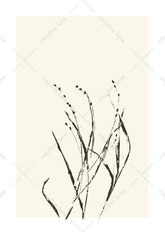 Affiche Herbes Sauvage Nature Plantes Design