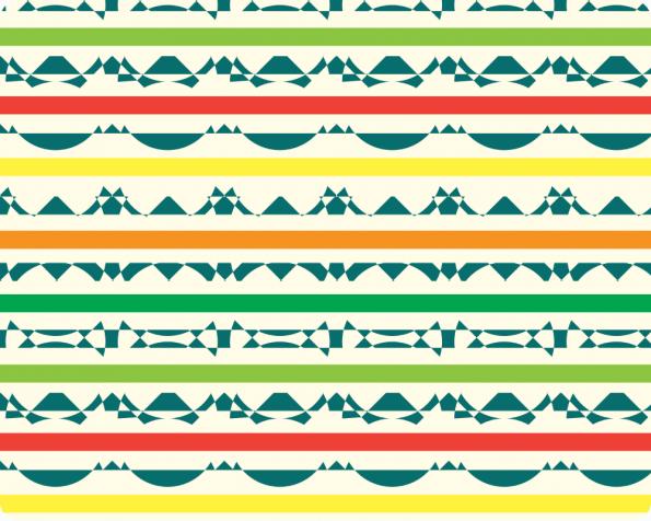 Afrique, motif haute résolution et libre de droits à télécharger /Africa, coloured pattern, downloadable and royalty free. High Resolution Print Graphic Tribal Indie Red Orange Yellow Design Green Geometric Seamless