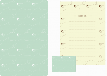 Papeterie Lunes, lot d'articles de papeterie à télécharger et à imprimer / Moons stationery, set of stationery items downloadable and printable. Notepad Paper Label Sticker Decorative Prints Patterns Desk Pack Scrapbooking Crescent