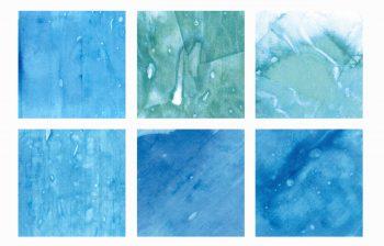 Texture Carrés bleus, peintures aquarelle haute résolution libre de droits à télécharger et à imprimer / Blue squares Texture, high resolution watercolour paintings downloadable and printable Royalty free. Illustrations Colours Backgound Sea Ocean Water Blue