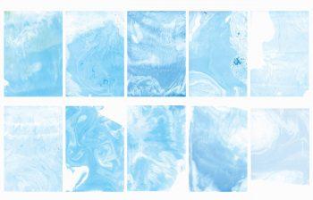 Texture Marbrures bleues, textures haute résolution libre de droits à télécharger et à imprimer / Blue marbles Texture, high resolution marbled textures downloadable and printable Royalty free. Illustrations Colours Paint Backgound Ink Blue Ink Aquatic