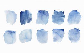 Texture Peintures bleues, peintures aquarelle haute résolution libre de droits à télécharger et à imprimer / Blue paintings Texture, high resolution watercolour paintings downloadable and printable Royalty free. Illustrations Colours Paint Backgound Aquatic Water