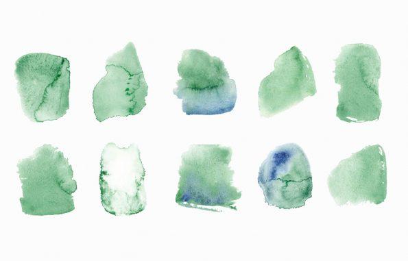 Texture Peintures vertes, peintures aquarelle haute résolution libre de droits à télécharger et à imprimer / Green paintings Texture, high resolution watercolour paintings downloadable and printable Royalty free. Illustrations Colours Paint Backgound Stain Green