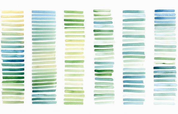 Texture Rayures bleu-vert, peintures aquarelle haute résolution libre de droits à télécharger et à imprimer / Blue-green stripes Texture, high resolution watercolour paintings downloadable and printable Royalty free. Illustrations Colours Paint Backgound Ocean Sea