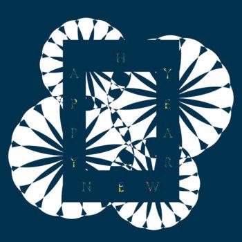 """""""Happy new year"""" bleu, carte de bonne année • Téléchargeable, Imprimable & libre de droits / Création graphique, Célébrations, Souhait, Numérique, Digital"""