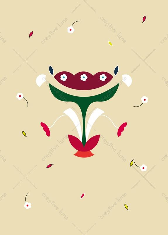 Bouquet slave : carte printanière et florale à Télécharger & à Imprimer