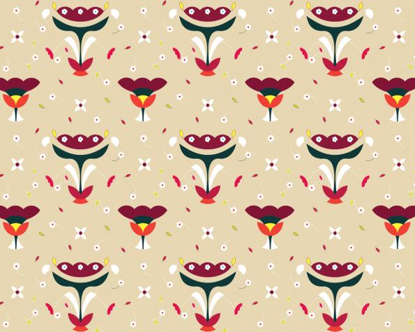 Bouquet slave : motif printanier de fleurs • à Télécharger & à Imprimer
