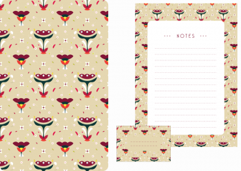 Slavic bouquet stationery : set of stationery • Downloadable & Printable paper items