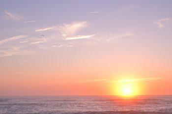 Paysage marin au soleil couchant • Photo Océan Sud-ouest & Landes / Image de paysage marin Libre de droit à télécharger - Creative Lune : Banque d'images
