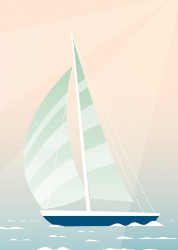 Sailboat on the water - Downloadable and printable marine poster