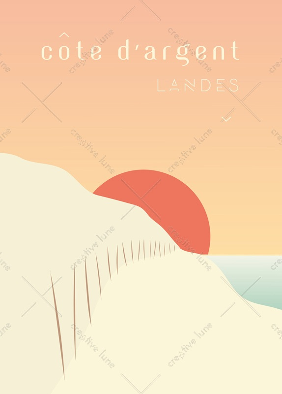 Silver coast - card downloadable and printable • Creative Lune