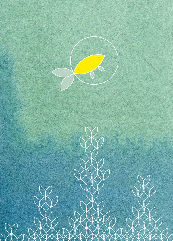 Fish - downloadable and printable card • Creative Lune