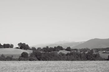 Hilly nature - royalty free & downloadable black and white picture • Creative Lune