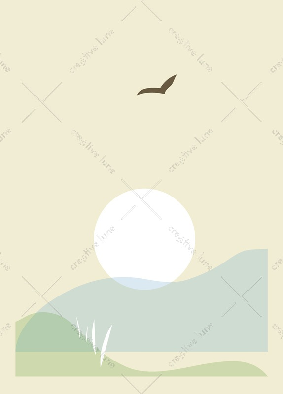 Between land and sea - printable nature card • Creative Lune