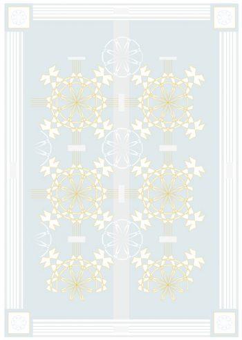 Palais bleu - Affiche à imprimer d'inspiration Art déco • Creative Lune