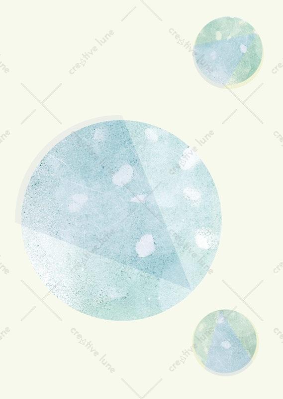 Planètes, affiche haute résolution imprimable et libre de droits pour identité visuelle, communication et décoration. Affiche Espace Aquarelle Bleu Enfant