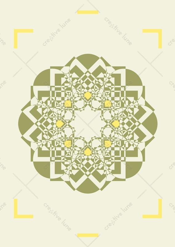 Affiche Graphique Arabesques Rosace Orient