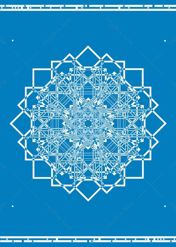 Rosace d'Orient, affiche haute résolution /Rosette from Orient, high resolution poster