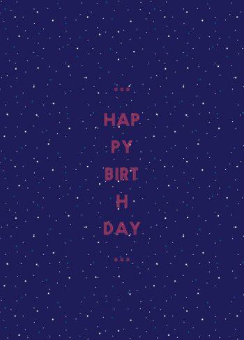 Etoiles, carte d'anniversaire imprimable / Stars, birthday card printable