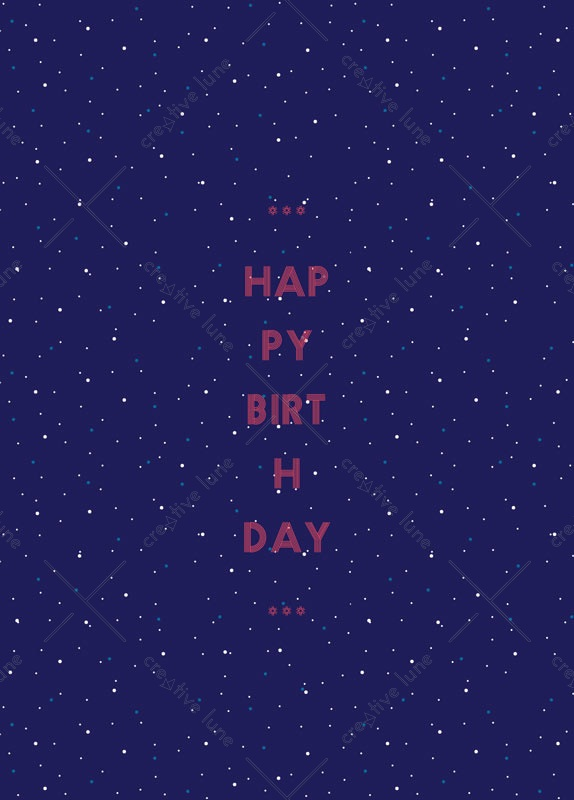 Etoiles, carte d'anniversaire imprimable / Stars, birthday card printable