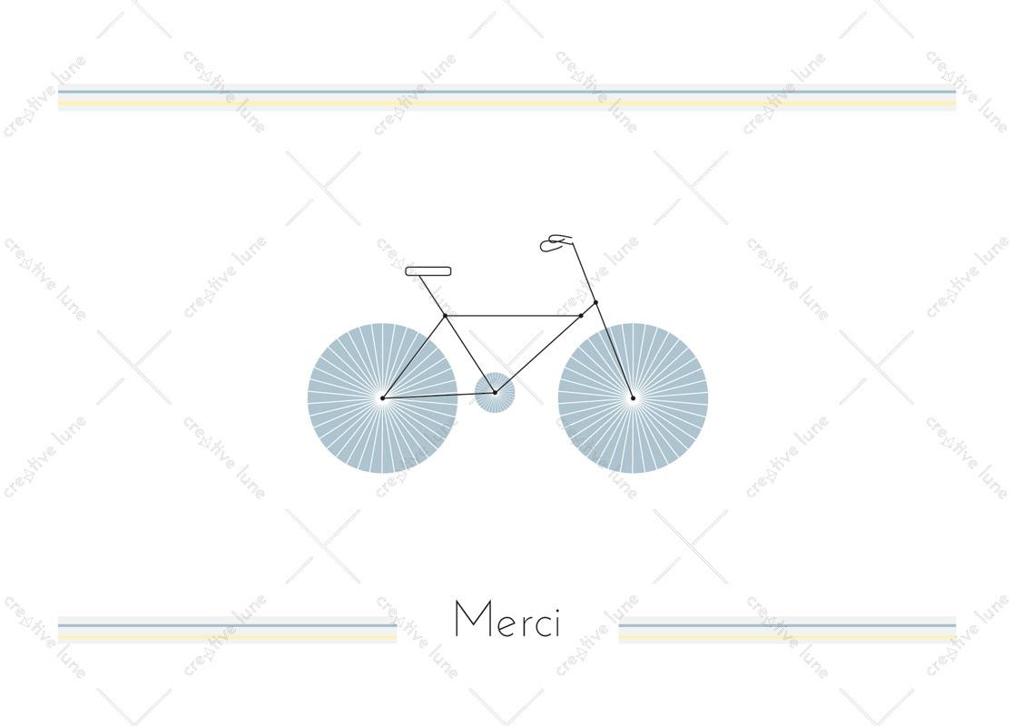 Vélo, carte de remerciement imprimable /