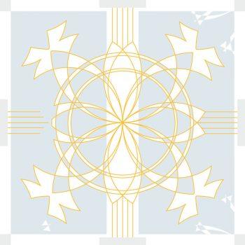 Palais bleu - carte illustrée à imprimer - inspiration Art déco • Creative Lune