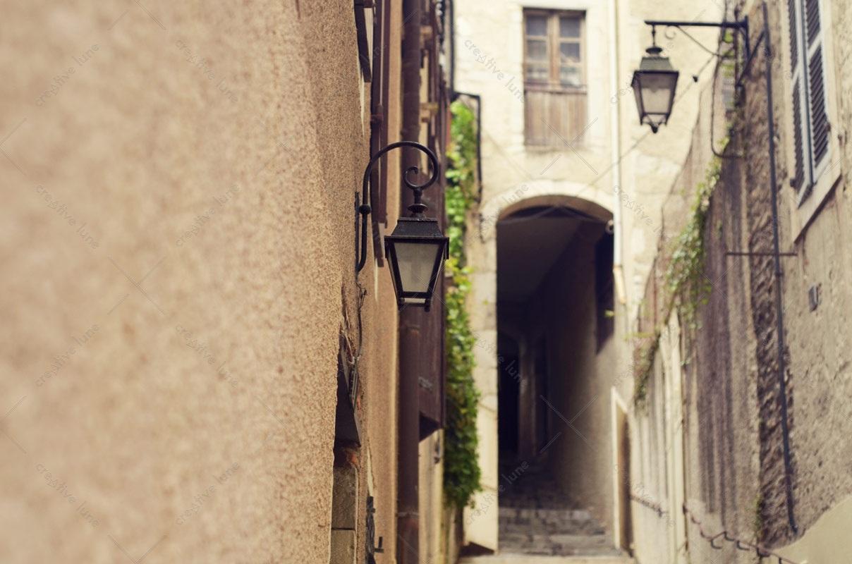 Passage médiéval, format paysage • Photographie haute résolution libre de droits à télécharger / Ville, Ancienne, Sud, France, Charme, Ruelle, Pau, Sudouest