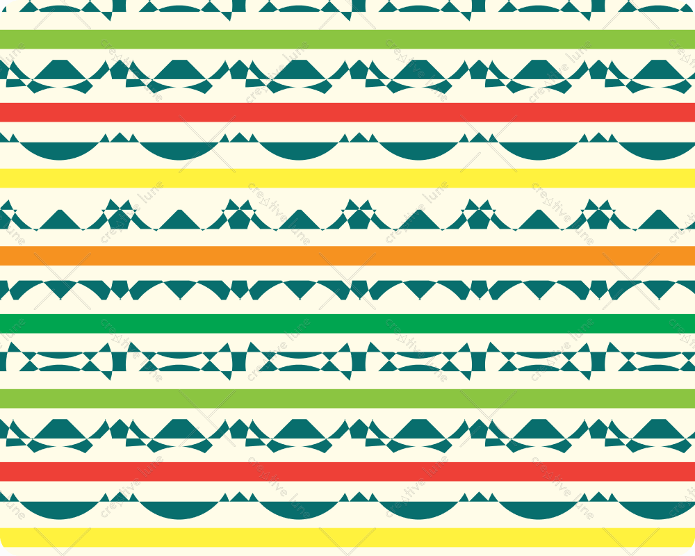 Afrique, motif haute résolution et libre de droits à télécharger /Africa, coloured pattern, downloadable and royalty free. High Resolution Print Graphic Tribal Indie Red Orange Yellow Design Green Geometric Seamless