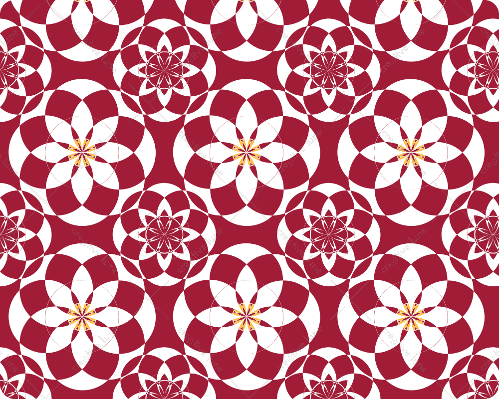 "Palais basque, motif ""Art nouveau"" haute résolution libre de droits à télécharger et à imprimer / Basque palace, ""Art Nouveau"" pattern high resolution downloadable and printable. Royalty free Print Graphic Red White Flower Floral Arabesques Nature Design"
