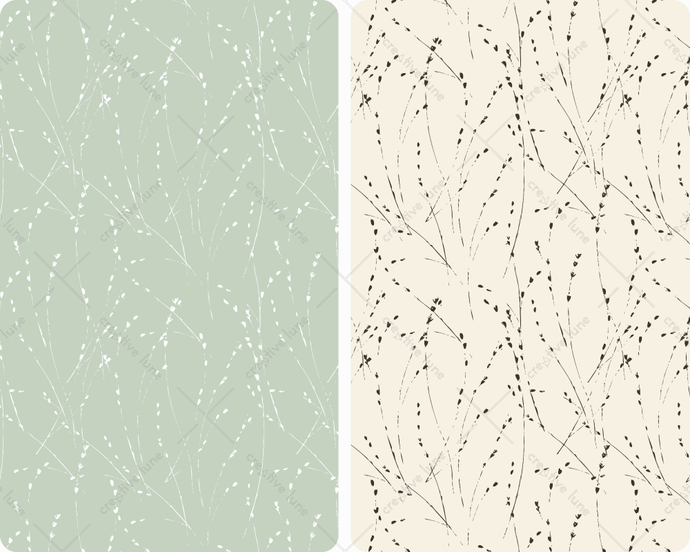Herbes, motif végétal haute résolution libre de droits à télécharger et à imprimer / Herbs, vegetal pattern high resolution downloadable and printable.Royalty free Print Graphic Plants Nature Leaves Design Illustration Minimalist Blue Beige