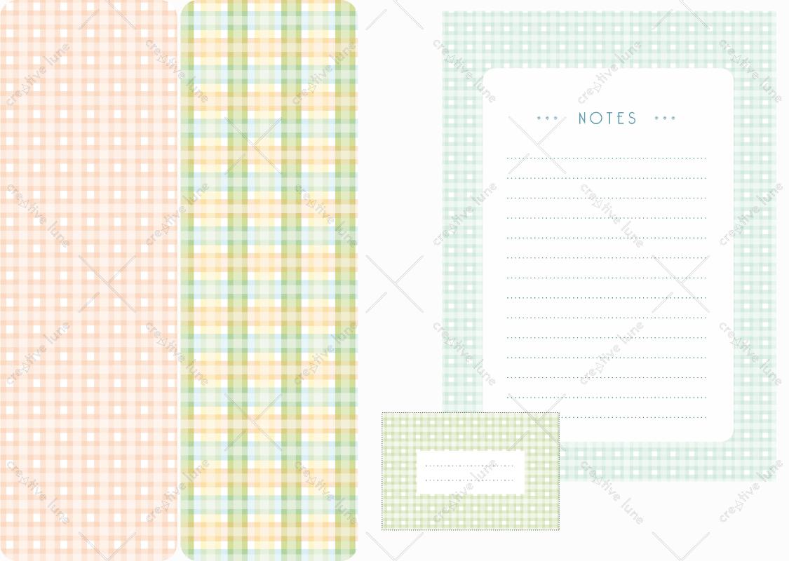 Papeterie Carreaux, lot d'articles de papeterie à télécharger et à imprimer / Tiles stationery, set of stationery items downloadable and printable. Notepad Paper Label Sticker Decorative Prints Patterns Desk Pack Scrapbooking Vichy
