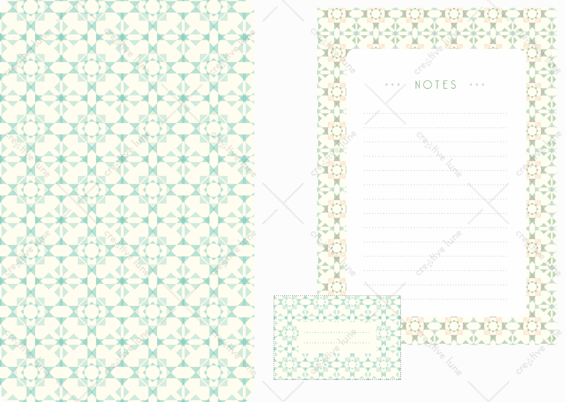 Papeterie Etoiles d'Orient, lot d'articles de papeterie à télécharger et à imprimer / Stars from Orient stationery, set of stationery items downloadable and printable. Notepad Paper Label Sticker Decorative Prints Patterns Desk Pack