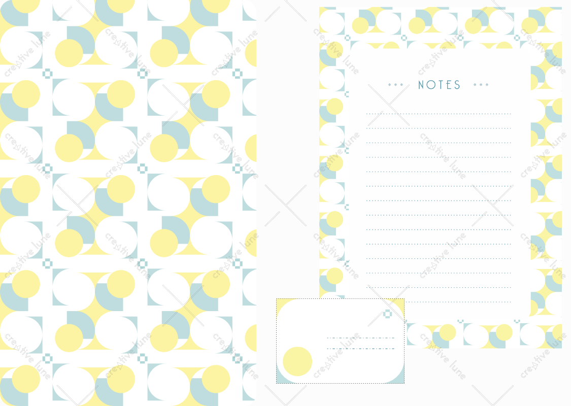 Papeterie Géométrie, lot d'articles de papeterie à télécharger et à imprimer / Geometry stationery, set of stationery items downloadable and printable. Notepad Paper Label Sticker Decorative Prints Patterns Desk Pack Scrapbooking