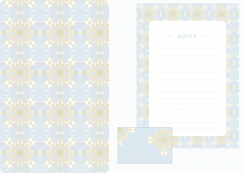 Papeterie Palais bleu, lot d'articles de papeterie à télécharger et à imprimer / Blue palace stationery, set of stationery items downloadable and printable. Notepad Paper Label Sticker Decorative Prints Patterns Desk Pack Scrapbooking
