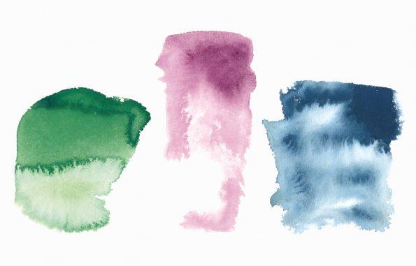 Texture 3 grandes aquarelles, peintures haute résolution libre de droits à télécharger et à imprimer / 3 large watercolours Texture, high resolution watercolour paintings downloadable and printable Royalty free. Illustrations Colours Paint Backgound Blue Rose