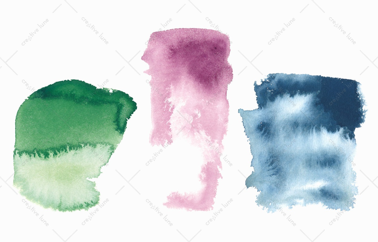 Texture 3 grandes aquarelles, peintures haute résolution libre de droits à télécharger et à imprimer / 3 large watercolours Texture, high resolution watercolour paintings downloadable and printable Royalty free. Illustrations Colours Paint Backgound Blue Rose