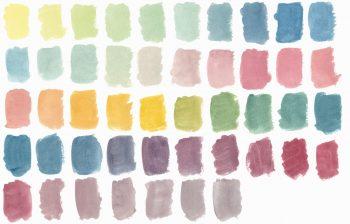 Texture Nuancier, peintures aquarelle haute résolution libre de droits à télécharger et à imprimer / Color chart Texture, high resolution watercolour paintings downloadable and printable Royalty free. Illustrations Colours Paint Backgound Gradient Orange