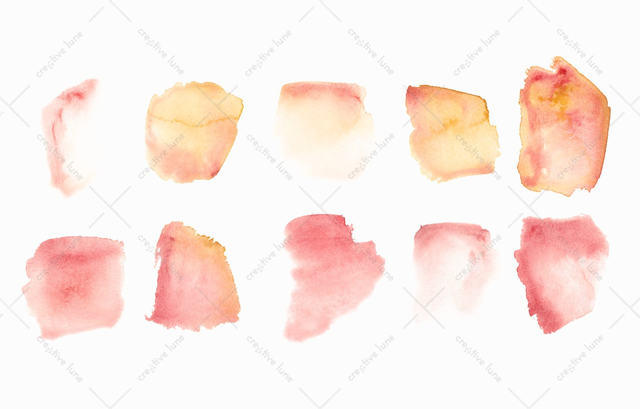 Texture Peintures orange, peintures aquarelle haute résolution libre de droits à télécharger et à imprimer / Orange paintings Texture, high resolution watercolour paintings downloadable and printable Royalty free. Illustrations Colours Paint Backgound Red Drops
