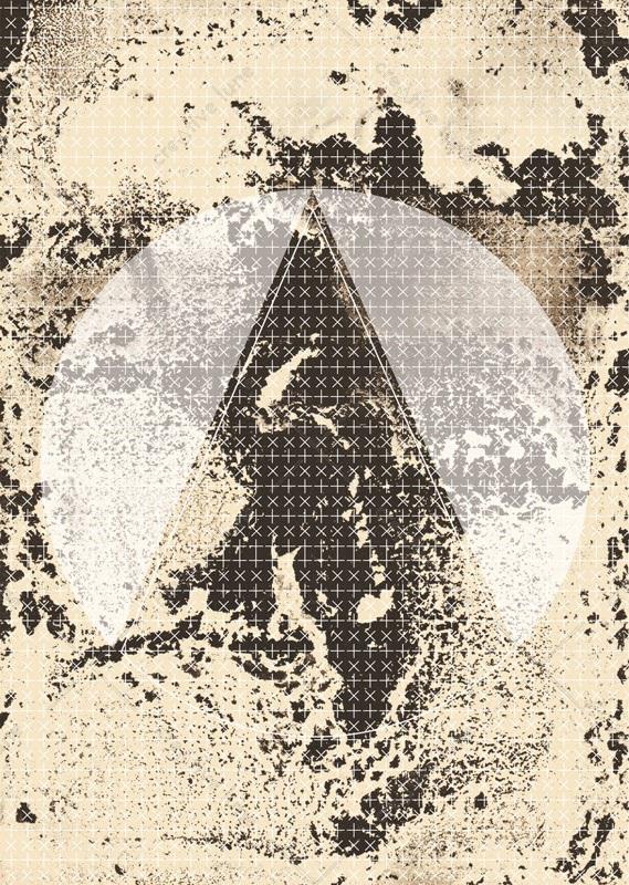 Montagne ancienne, affiche haute résolution imprimable et libre de droits pour identité visuelle, communication et décoration. Pierre Graphique Peinture