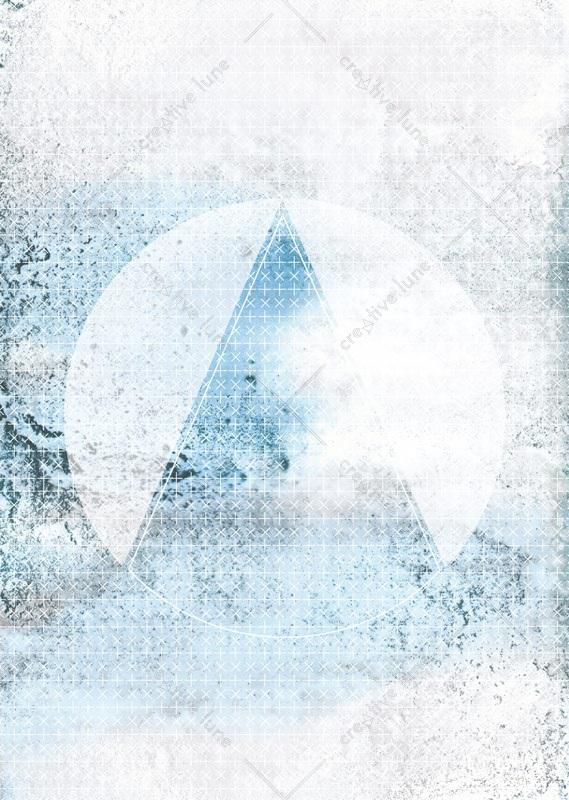 Montagne aquatique, affiche haute résolution imprimable et libre de droits pour identité visuelle, communication et décoration. Bleu Aquarelle Eau Graphique
