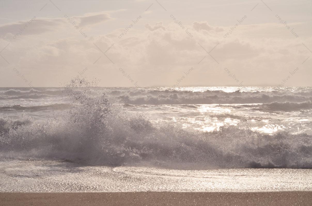 Petite vague rose, photographie haute résolution libre de droits à télécharger pour identité visuelle, communication et décoration. Mer Marin Océan Nature