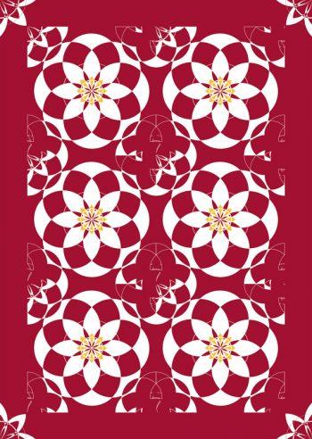 Palais basque, affiche haute résolution imprimable et libre de droits pour identité visuelle, communication et décoration. Rouge Fleurs Floral Blanc