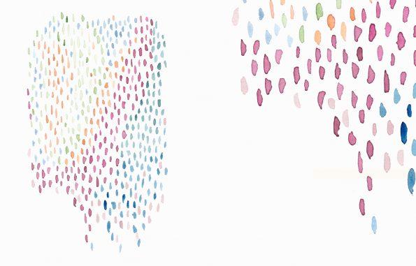 Texture Cascade gouttelettes à l'aquarelle • à Télécharger & à Imprimer / Peinture haute résolution