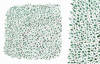 Texture végétale Feuilles et Forêt • Illustration Peinte • à Télécharger & à Imprimer