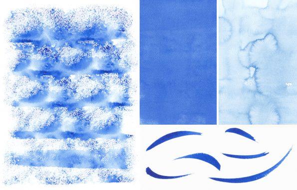 Texture Pack aquarelle bleu • Peintures & Fonds aquatiques à télécharger
