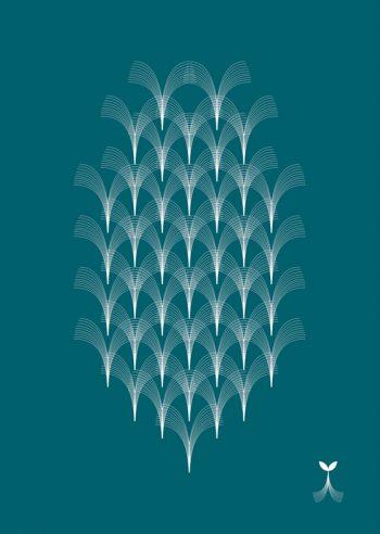 Art déco turquoise : affiche à Télécharger & à Imprimer