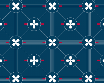 Marin : motif bleu et blanc d'inspiration Bord de mer • à Télécharger & à Imprimer