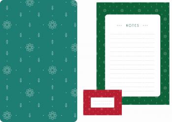 Papeterie Noël scandinave : à Télécharger & à Imprimer • motif de noël composé de sapins et d'étoiles