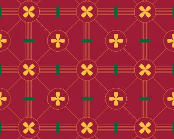 Roman : motif d'inspiration basque • à Télécharger & à Imprimer / Motif libre de droits rouge et jaune téléchargeable et imprimable - Creative Lune