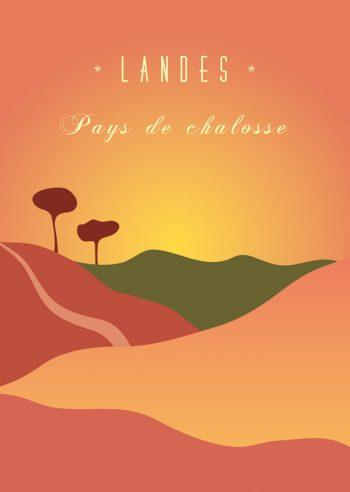 Pays de Chalosse : affiche régionale Landes & Sud-ouest à imprimer